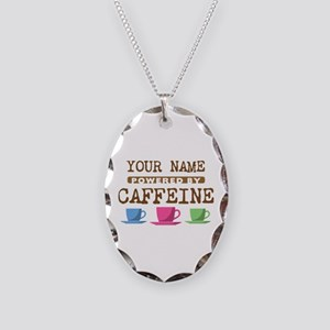 Powered by Caffeine Necklace Oval Charm