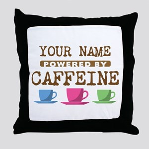 Powered by Caffeine Throw Pillow