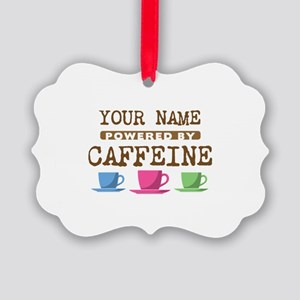 Powered by Caffeine Picture Ornament