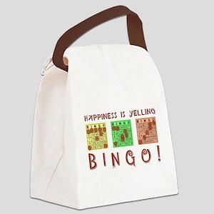 HAPPINESS IS YELLING BINGO! Canvas Lunch Bag