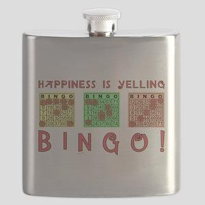 HAPPINESS IS YELLING BINGO! Flask