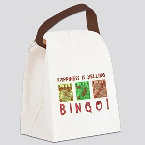 HAPPINESS IS YELLING BINGO! Canvas Lunch Bag
