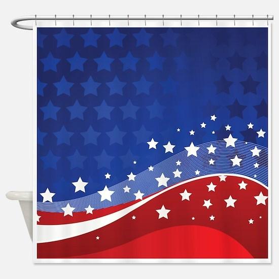 STARS & STRIPES Shower Curtain