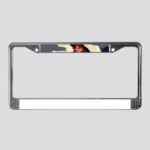Halloween Witch License Plate Frame