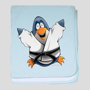 Karate Penguin baby blanket