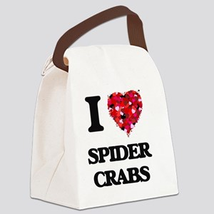 I love Spider Crabs Canvas Lunch Bag