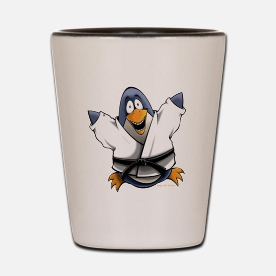 Karate Penguin Shot Glass