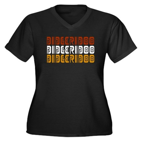 Didgeridoo Trio Women's Plus Size V-Neck Dark T-Sh
