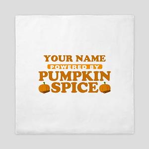 Powered by Pumpkin Spice Queen Duvet