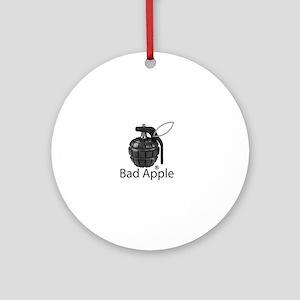 Bad Apple Round Ornament