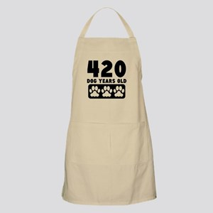 420 Dog Years Old Apron