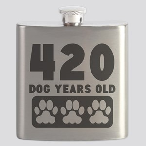 420 Dog Years Old Flask