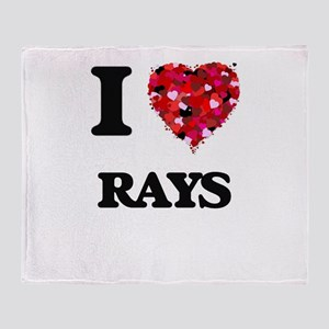I love Rays Throw Blanket