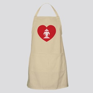 Laotian Erawan 3 Headed Elephant Heart Flag Apron