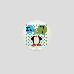 Penguin 7th Birthday Mini Button