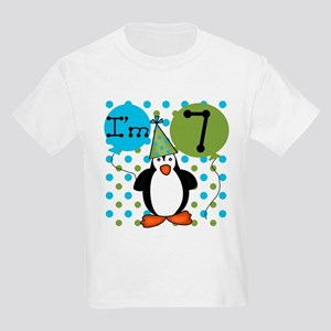 Penguin 7th Birthday Kids Light T-Shirt