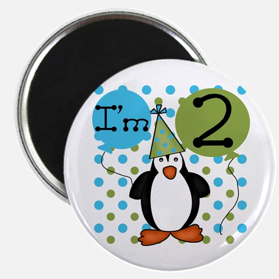 Penguin 2nd Birthday Magnet
