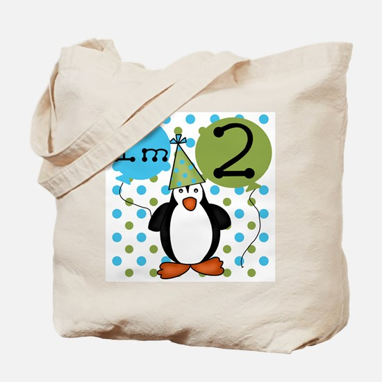 Penguin 2nd Birthday Tote Bag