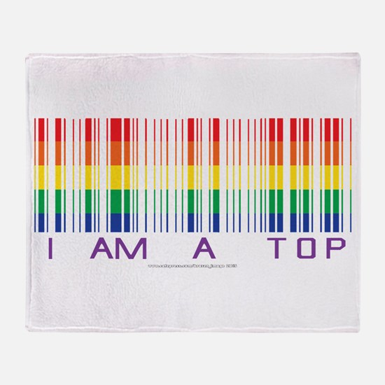 I am a Top Throw Blanket