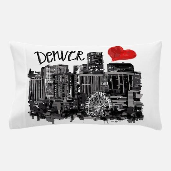 I love Denver Pillow Case