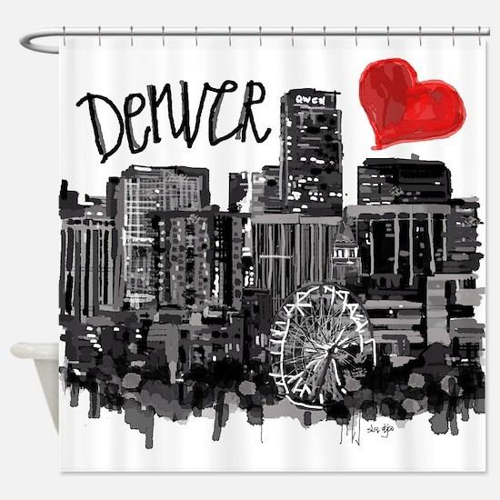 I love Denver Shower Curtain