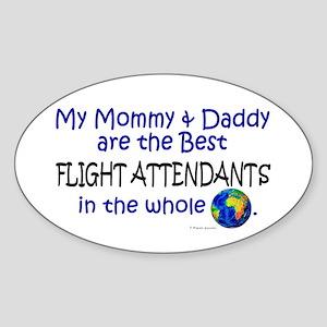 Best Flight Attendants In The World Oval Sticker