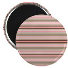 Pink and beige stripes Magnets