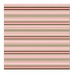 Pink and beige stripes Square Car Magnet 3