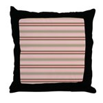 Pink and beige stripes Throw Pillow