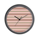 Pink and beige stripes Wall Clock