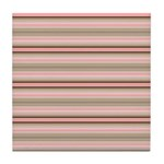 Pink and beige stripes Tile Coaster
