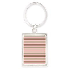 Pink and beige stripes Keychains