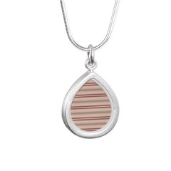 Pink and beige stripes Necklaces