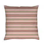 Pink and beige stripes Everyday Pillow