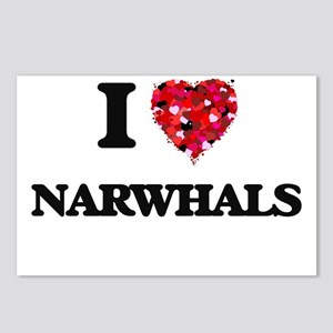 I love Narwhals Postcards (Package of 8)