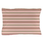 Pink and beige stripes Pillow Case