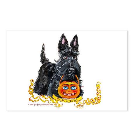 Halloween Scottish Terrier Postcards (Package of 8