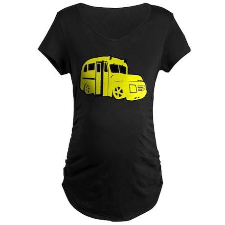 Yellow Bus Maternity Dark T-Shirt