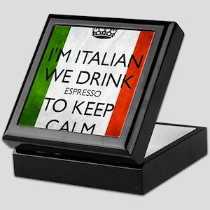 We Drink Espresso to Keep Calm Keepsake Box
