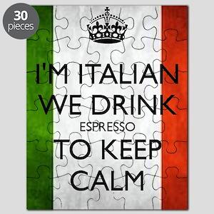 We Drink Espresso to Keep Calm Puzzle