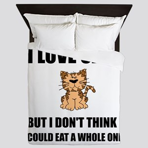 Eat A Whole Cat Queen Duvet