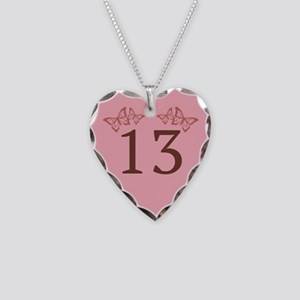 13th Birthday Anniversary Necklace Heart Charm