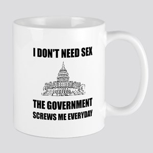 Government Screws Me Mugs