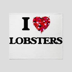 I love Lobsters Throw Blanket