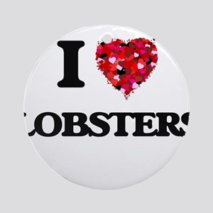 I love Lobsters Round Ornament