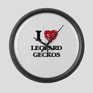 I love Leopard Geckos Large Wall Clock