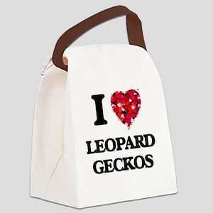 I love Leopard Geckos Canvas Lunch Bag