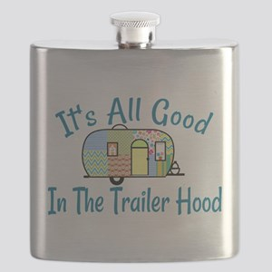 All Good In The Trailer Hood Flask