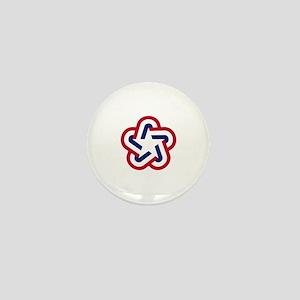 Bicentennial Star Mini Button