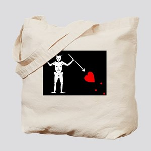 Pirate Flag Of Blackbeard Tote Bag